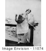 #11074 Picture Of A Woman On A Pier