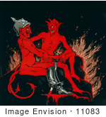 #11083 Picture Of Two Devils
