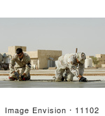#11102 Picture Of Soldiers Smoothing Cement