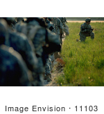 #11103 Picture Of A Soldiers In Training