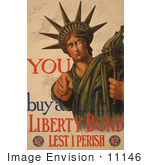 #11146 Picture Of The Statue Of Liberty War Bond