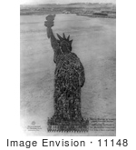#11148 Picture Of Humans Forming The Statue Of Liberty