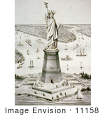 #11158 Picture Of The Statue Of Liberty Liberty Enlightening The World