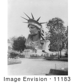 #11183 Picture Of The Head Of Liberty Enlightening The World