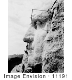 #11191 Picture of Men Constructing Mt Rushmore by JVPD