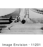 #11201 Picture Of Men Constructing The Manhattan Bridge