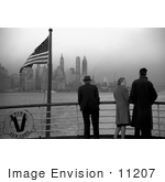 #11207 Picture Of People Viewing Manhattan From A Ship