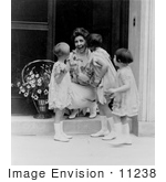 #11238 Picture of Little Girls Kissing Grace Coolidge by JVPD