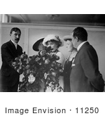 #11250 Picture Of Helen Keller At A Flower Show