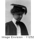 #11252 Picture of Helen Keller in Graduation Dress by JVPD
