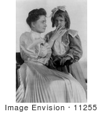 #11255 Picture of Helen Keller Reading a Girl's Lips by JVPD