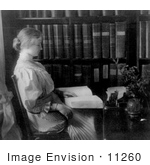 #11260 Picture of Helen Keller Reading Braille by JVPD