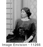 #11266 Picture Of Helen Keller Sitting In A Chair