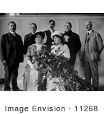 #11268 Picture of Anne Sullivan Macy and Helen Keller at a Flower Show by JVPD