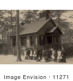 #11271 Picture Of African American School Children And Teacher