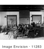 #11283 Picture Of A Teacher And Students In A Classroom