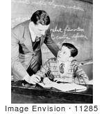 #11285 Picture Of A Teacher Helping A Student