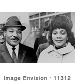 #11312 Picture of Martin Luther and Coretta Scott King by JVPD