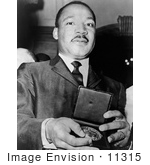 #11315 Picture of MLK Holding a Medallion by JVPD