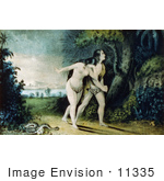 #11335 Picture of Adam and Eve Leaving Paradise by JVPD