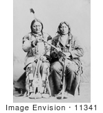 #11341 Picture of Sitting Bull and One Bull by JVPD