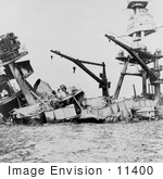 #11400 Picture Of The Uss Arizona Attack On Pearl Harbor