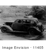 #11405 Picture of the Pearl Harbor Bombing Aftermath by JVPD