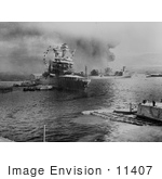 #11407 Picture Of Oil Tanker Uss Neosho During Attack On Pearl Harbor