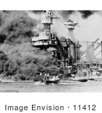 #11412 Picture of People Being Rescued After the Bombing of Pearl Harbor by JVPD