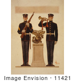#11421 Picture Of Two Marine Soldiers