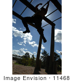 #11468 Picture Of A Soldier In An Obstacle Course