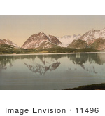 #11496 Picture Of Mountains Reflecting In Lyngenfjord