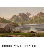 #11500 Picture Of Stilt Houses Raftsund Lofoten Norway