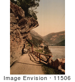 #11506 Picture Of A Horse Drawn Carriage On A Dirt Road Norway