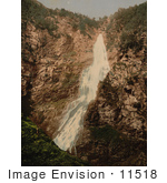 #11518 Picture Of Silvefos Waterfall Norway
