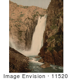 #11520 Picture Of A Waterfall Vorinfos Hardanger Fjord