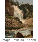 #11529 Picture Of A Waterfall In Hardanger Fjord