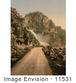 #11531 Picture Of A Road Leading To A Waterfall Norway