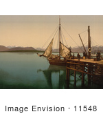 #11548 Picture Of A Docked Ship Molde Norway