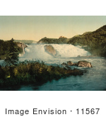 #11567 Picture Of A Waterfall Ovrelerfos Trondhjem Norway