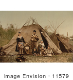 #11579 Picture Of A Lapp Family Norway