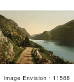 #11588 Picture Of A Road By Bandak Lake Norway