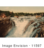 #11597 Picture Of A Waterfall Hofsfossen With Honefos Ringerike Norway