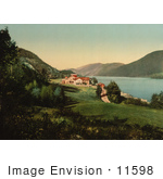 #11598 Picture Of Homes On The Waterfront Tinnoset Telemark Norway