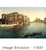 #11631 Picture Of Gondolas On The Grand Canal Venice Italy