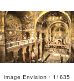 #11635 Picture Of The Interior Or St Marks Venice