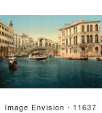 #11637 Picture Of Rialto Bridge Venice Italy
