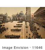 #11646 Picture Of Soldiers In St Mark'S Square
