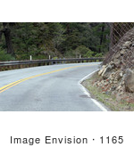 #1165 Picture of a Road Beside a Landslide Area by Kenny Adams