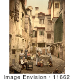 #11662 Picture Of A Venetian Courtyard Venice Italy